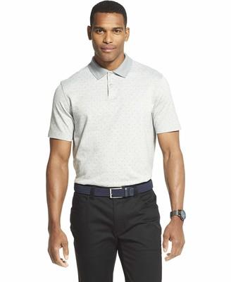 Van Heusen Men's Flex Short Sleeve Stretch Print Polo Shirt