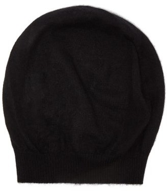 Rick Owens Ribbed-cuff Cashmere Beanie Hat - Womens - Black