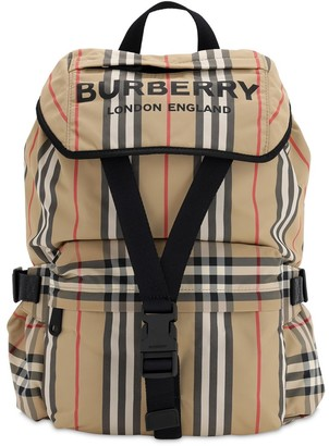 Burberry Wilfin Check Nylon Backpack