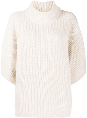 Peserico High Neck Knitted Poncho