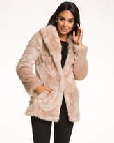 Le Château Faux Fur Nubby Coat