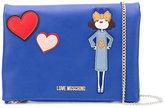 Love Moschino heart shoulder bag - women - Polyurethane - One Size