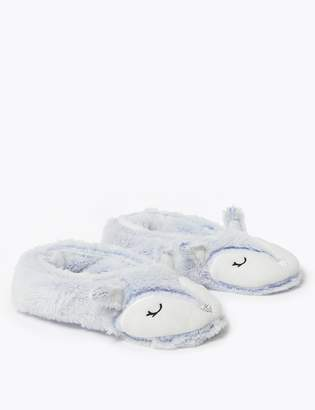 Marks and Spencer Fleece Lined Arctic Fox Slipper Socks