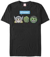 Fifth Sun Men's Tee Shirts BLACK - Thor & Hulk Emoji Tee - Men