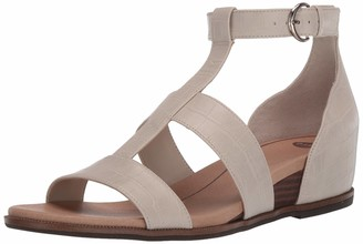 Dr. Scholl's Womens Free Spirit Oyster Ankle Straps 6 M