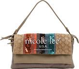 Nicole Lee Women's Gia Striped Sequin Shoulder Bag