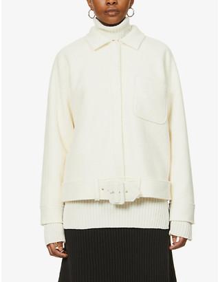 Anine Bing Jaden buckle-belt wool-blend jacket