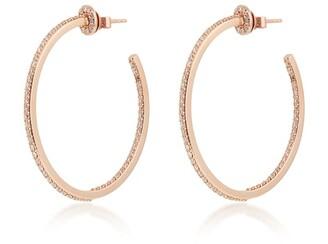 Bee Goddess Rose Gold and Diamond Mondrian Hoop Earrings