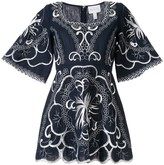 Alice McCall Dissolving Hearts embroidered mini dress
