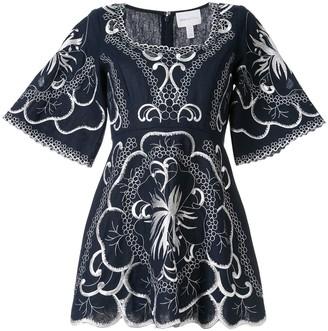 Alice McCall Dissolving Hearts embroidered mini dress