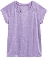 Ideology Heathered V-Neck T-Shirt, Big Girls, Created for Macy's