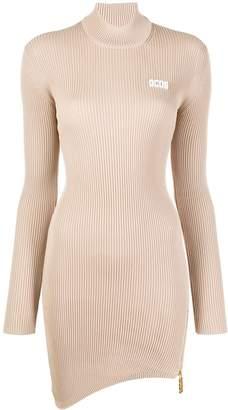 GCDS asymmetric ribbed dress