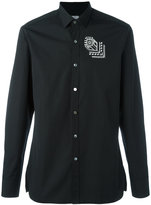 Lanvin rose tattoo embroidered shirt - men - Cotton - 39