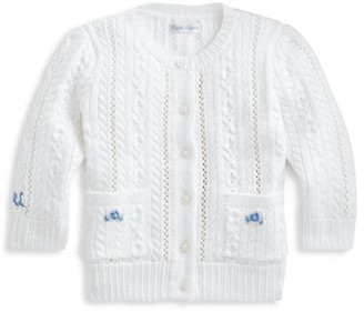 Ralph Lauren Baby Girl's Pointelle Knit Cardigan