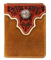 Ariat A3510437 Top Concho Overlay Bi-Fold Wallet, Light Brown - One Size