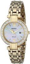Seiko Women's SUT182 Analog Display Japanese Quartz Gold Watch