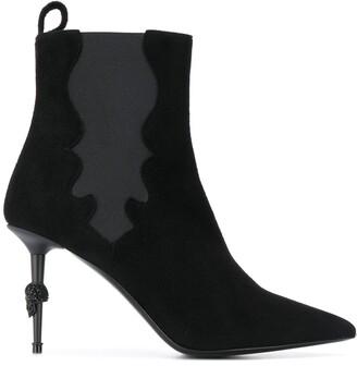 Philipp Plein Skull Stiletto Boots