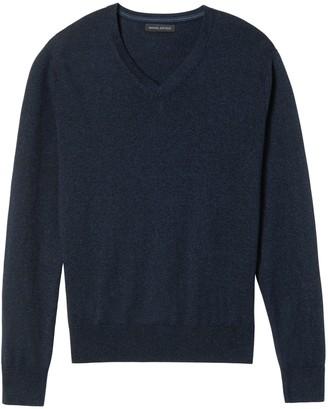 Banana Republic Slim Silk Cotton Cashmere V-Neck Sweater