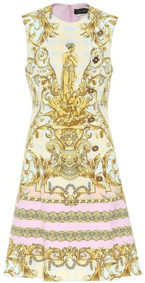 Versace Exclusive to Mytheresa Printed cady minidress
