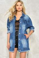 Nasty Gal nastygal Go Long Denim Jacket