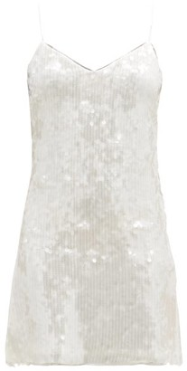 Galvan Mustique Sequinned-jersey Mini Dress - White