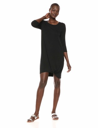 Tribal Women's Lux 3/4 Sleeve Dress with Knot Detail