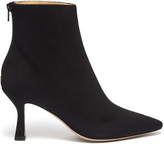 Fabio Rusconi 'Como' suede panel snake-embossed leather ankle boots