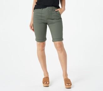 Denim & Co. Cotton Canvas Roll-Hem Utility Bermuda Shorts