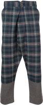 Vivienne Westwood Man drop-crotch check trousers