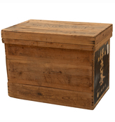 Rejuvenation Tin-Lined Japanese Tea Crate w/ Paper Label I