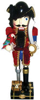 Asstd National Brand 14 Red Coat Peg Leg Pirate Nutcracker