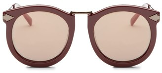 Karen Walker Super Luna 53MM Round Sunglasses