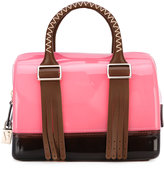 Furla 'Boston' leather-trimmed tote - women - Leather/Plastic - One Size