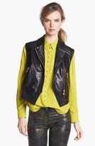 Vince Camuto Faux Leather Moto Vest (Regular & Petite)