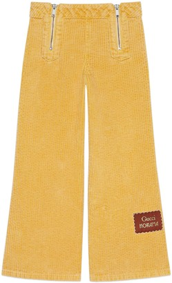 Gucci Children's corduroy pant with Horama label