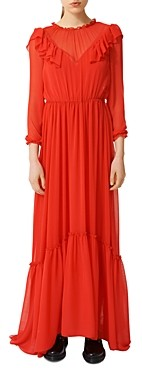 Maje Rachana Ruffled Maxi Dress