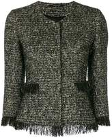 Tagliatore fringed hem tweed jacket