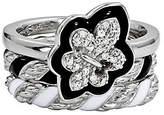 Simply Stacks Sterling Fleur-De-Lis Ring Set