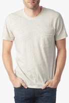 7 For All Mankind Short Sleeve Crewneck In Nep Natural