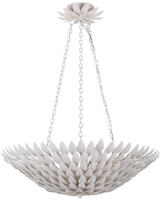 Crystorama Broche 6-Light Matte White Pendant Chandelier
