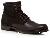 Jack & Jones Brown Suede Lace Up Boots