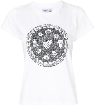 agnès b. graphic print T-shirt