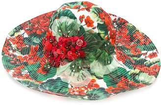 Dolce & Gabbana floral print hat