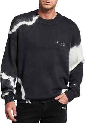 Off-White Men's Tie Dye Crewneck Sweater