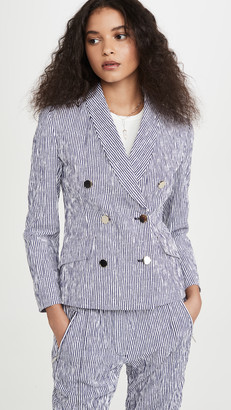 Derek Lam 10 Crosby Myla Double Breasted Cropped Blazer