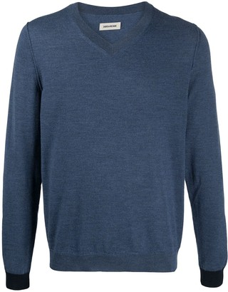 Zadig & Voltaire Keddy contrasting-cuffs pullover