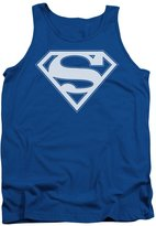 Superman DC Comics & White Shield Adult Tank Top Shirt