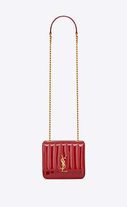 Saint Laurent Vicky Small In Matelasse Patent Leather