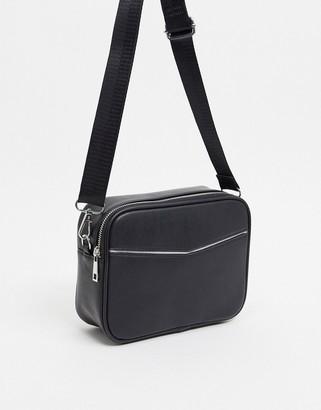 Truffle Collection black boxy cross body bag