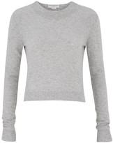 Amanda Wakeley Grey Cropped Cashmere Sweater